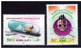 Anti Drug Campaign, Skull / Dead, Syringe, Medicine, Drugs, Health, MNH United Arab Emirates UAE - Droga