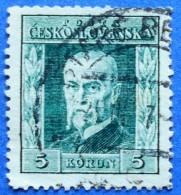 CZECHOSLOVAKIA TOMAS GARRIGUE MASARYK 5 K 1925-26 Mic.227 Y  - USED - Gebraucht