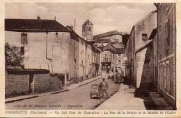 70 CHAMPLITTE  La Rue De La Brèche Et La Montée De L'Eglise - Otros Municipios