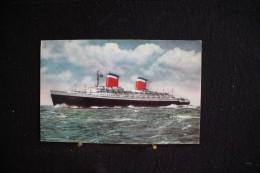 W - 488 - America - Bateau -  S.s. United States - Circulé 1963 - Cartes Postales