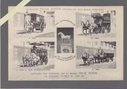Felix Potin Possede Les Plus Beaux Attelages , Primés Au Concours Hippique De Paris 1911 - Advertising