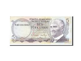Turquie, 5 Lira, 1970, Undated, KM:185, SUP - Turchia