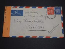ISRAËL - Enveloppe Pour La France Avec Contrôle Postal - A Voir - L 1988 - Israel