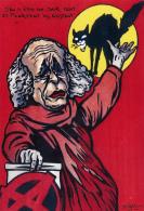 CPM Chanteur Léo FERRE Anarchiste Anarchie Chat Noir Cat Catze Caricature Tirage Limité JIHEL / LARDIE - Lardie