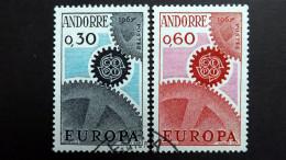 Andorra Franz. 199/00 Yt 179/0 Oo/used, EUROPA/CEPT 1967