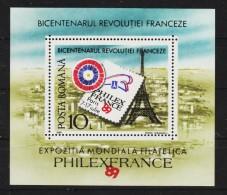 1989 - Bicentenaire De La Revolution Francaise Mi Bl 256 Et Yv Bf 205 MNH - 1948-.... Republiken