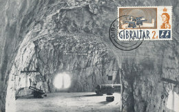 D25519 CARTE MAXIMUM CARD 1962 GIBRALTAR - GUNS AT ST. GEORGE'S HALL CP ORIGINAL - Militaria