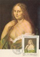D25528 CARTE MAXIMUM CARD 1968 CZECHOSLOVAKIA - NUDE WOMAN BY JOSEF MANES CP ORIGINAL - Nudes