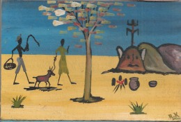 Carte Postale En Bois - Burkina Faso - Burkina Faso
