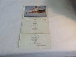 """Menu Illustré Cpa Compagnie Générale Transatlantique Paquebot """" Ile De France """" 14.07.30 Dépliant Un Petit Peu Détaché - Menu"""