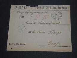 ALLEMAGNE - Enveloppe En Franchise Pour La Croix Rouge En 1915 - A Voir - L 2004 - Germany