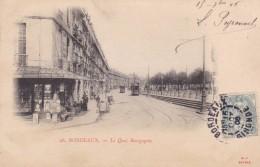 BORDEAUX - GIRONDE  -  (33)  -  CPA PRECURSEUR ANIMEE DE 1906. - Bordeaux