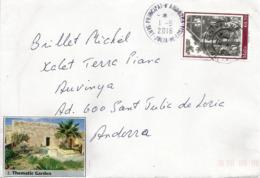 Jardins De Malta, Lettre De Malta Adressée ANDORRA, Avec Timbre à Date Arrivée - Malta