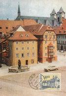 D25547 CARTE MAXIMUM CARD 1966 CZECHOSLOVAKIA - MERCHANT HOUSES CHEB CP ORIGINAL - Architecture