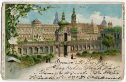 CARTOLINA GRUSS ZWINGER DRESDEN SACHSEN SASSONIA - Dresden