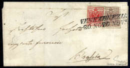 6 Kr. Rötlichbraun, Type Ia (oben Rechts Wenig Getroffen) Mit Lombardei-Venetien 15 C. Rot, Type IIIa (beide... - Stamps