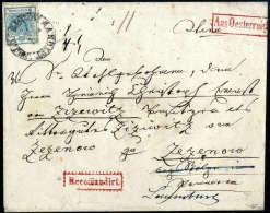 Beleg 9 Kr. Hellblau, Type I Mit 6 Kr. Braun, Type Ia Rückseitig Als Einschreibeporto (beide Marken Etwas... - Stamps