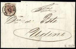 6 Kr. Braun, Type Ib, Gute Ränder, Kopfstehend Frankiert Und Entwertet Mit K1 KLAGENFURTH 14/9 Auf Prachtbrief... - Stamps