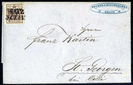 6 Kr. Braun, Type III, Gute Bis Breite Ränder, Zentrisch Und übergehend Entwertet Mit L2 GRATZ 31.JAN.... - Stamps