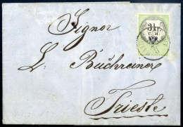 Stempelmarke 3 Kr., übergehend Entwertet Mit K1 HAIDENSCHAFT 22/8 (Küstenland, Bei Sassone Verwendung Von... - Stamps