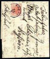 3 Kr. Rot, Type IIIa, Tokayer Durchstich, Schön übergehend Entwertet Mit K1 TOKAY 21/9 Auf Faltbrief 1853... - Stamps