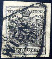 Gest. 2 Kr. Schwarz, Type IIIb, Gute Bis Breite Ränder, Schöner Wiener Stempel. Kabinett. (Michel: 2Ya) - Stamps