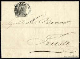 Beleg 2 Kr. Silbergrau, Type Ia, Breite Ränder, Zentr. Zier-K2 TRIEST 25 NOV. 1850 Auf Vollständigem... - Stamps