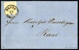 Beleg 1 Kr. Goldgelb, Type Ib, Gute Ränder, Schöner K1 Mit Verzierung PESTH 28/9 (oben In Der Ecke... - Stamps