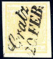 Gest. 1 Kr. Goldgelb, Type Ib, Luxusstück Mit Zentr. Schreibschriftstempel Gratz 20. FEB.Katalogpreis:... - Stamps