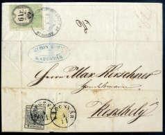 1 Kr. Chromgelb, Type III, Mit 2 Kr. Schwarz, Type IIIa, Gute Ränder, Nur 2 Kr. Unten An Die Randlinie... - Stamps