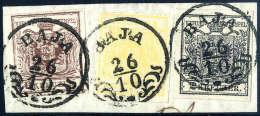 Briefst. 1 Kr. Dunkelgelb, 2 Kr. Schwarz Und 6 Kr. Braun, Alle Type III, Gute Bis Breite Ränder, In Einer... - Stamps