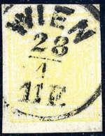 Gest. 1 Kr. Gelb, Type III, Gute Ränder, Zentr. K1 WIEN, Kabinett, Sign. Ferchenbauer.Katalogpreis:... - Stamps