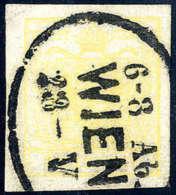 Gest. 1 Kr. Ockergelb, Type III, Breitrandiges Luxusstück Mit Ovalem WIEN 23-V 6-8 Ab.Katalogpreis:... - Stamps