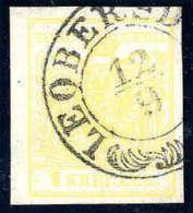 Gest. 1 Kr. Gelb, Type III, Breitrandig, Deutlicher K2 Mit Verzierung LEOBERSD(ORF) 12/9, Luxus, Sign.... - Stamps