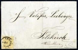 Beleg 1 Kr. Kadmiumgelb, Type III, Gute Bis Breite Ränder, Am Briefrand Geklebt, Mit übergehenden K1... - Stamps
