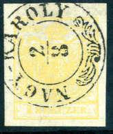 Gest. 1 Kr. Kadmiumgelb, Type III, Regelmässig Breitrandiges Luxusstück Mit Schönen Zier-K2... - Stamps