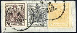Briefst. 1 Kr. Braunorange, Type Ia, 2 Kr. Grauschwarz, Type Ia Und 6 Kr. Braun, Type Ia, Alle Gute Bis Breite... - Stamps