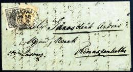 1 Kr. Orange, Type Ib Mit 2 Kr. Grauschwarz, Type Ia, überlappend Frankiert Und Jede Marke Entwertet Mit K2... - Stamps