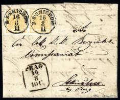 1 Kr. Orange, Type III, Waagerechtes Paar, Gute Ränder, Nur Oben Links Kurz Getroffen, Jede Marke Mit K1... - Stamps