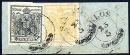 Briefst. 1 Kr. Orange Mit 2 Kr. Silbergrau (Nuance), Beide Type Ia, Gute Bis Breite Ränder Mit Zwei Zier-K2... - Stamps