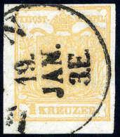Gest. 1 Kr. Orange, Type III, Kabinettstück Mit K1 Von Wien, Befund Ferchenbauer.Katalogpreis:... - Stamps