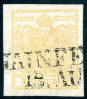 Gest. 1 Kr. Ockerorange, Type III, Quadrilliertes Papier, Breitrandig, Entwertet Mit L2 HAINFE(LD), Gemäss... - Stamps