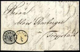 1 Kr. Ockergelb, Type Ia, Mit 2 Kr. Silbergrau, Type Ia, Gute Bis Breite Ränder, Schön übergehend... - Stamps