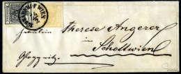 1 Kr. Gelbocker, Type III Mit 2 Kr. Schwarz, Type IIIa, Schön Zentrisch Und übergehend Entwertet Mit K1... - Stamps