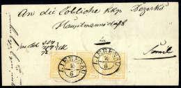 1 Kr. Ockergelb, Type Ib, Waagerechter Dreierstreifen, Breite Ränder, Kopfstehend Frankiert Und Perfekt... - Stamps
