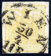 Gest. 1 Kr. Ockergelb, Type III, Großes Wasserzeichen, Gute Bis Breite Ränder, Zentr. K1 WIEN 30/4,... - Stamps