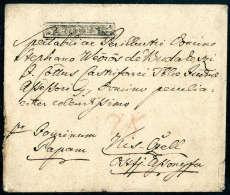 SZENTES, Negativstempel Klar Auf Beschwerter Briefhülle (ca. 1819) Nach Kis-Czell. Ein Seltener Negativstempel... - Stamps