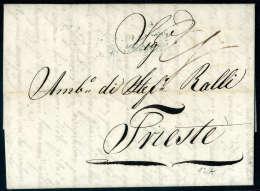 """Zweizeiliger Schreibschriftstempel """"Geräuchert"""" Von Contumaz Amt In SEMLIN Am 6. Juni 1834 Rücks. Auf... - Stamps"""