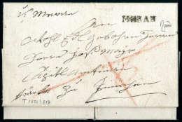 MERAN L1 Auf Vollst. Faltbrief (1831) Nach Innichen. Schöner Tirolbrief. - Stamps