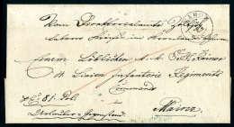 Blauer L2 MAINZ Rücks. Unvollständig Als Ankunftsstempel Auf Faltbriefhülle (Januar 1850) Von Tabor... - Stamps